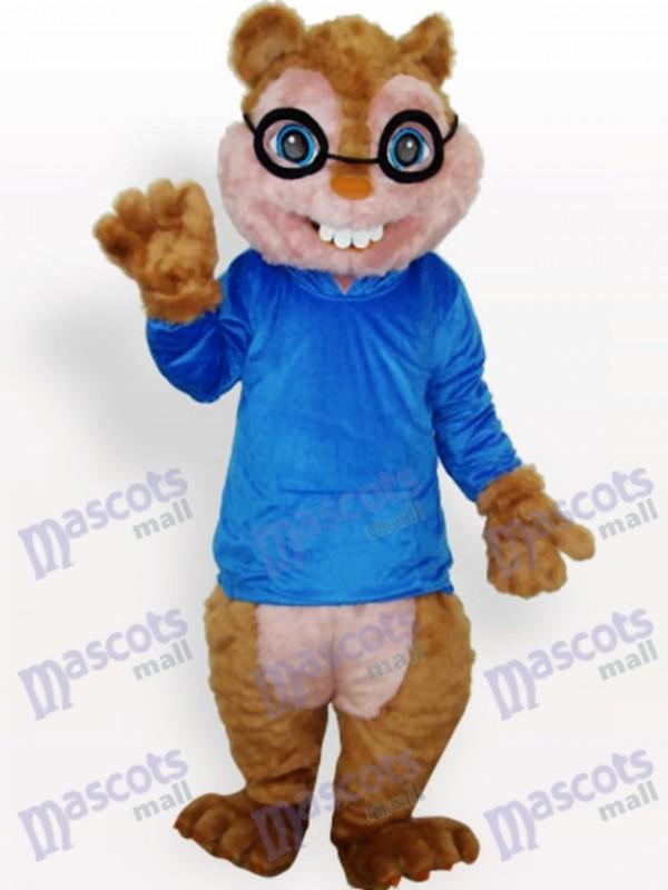 Blaues Eichhörnchen Tier Maskottchen Kostüm
