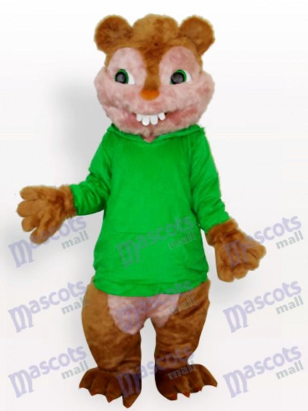 Grünes Eichhörnchen Tier Maskottchen Kostüm