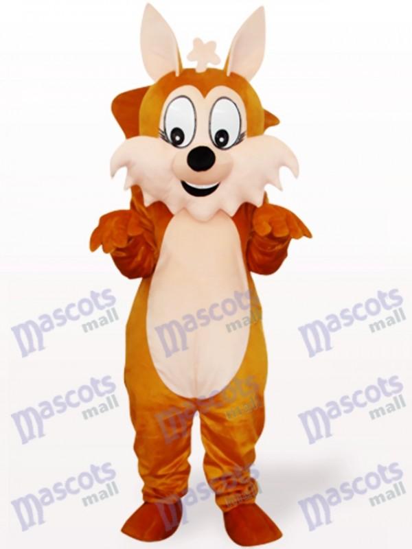 Brown Eichhörnchen mit großen Schwanz Tier Maskottchen Kostüm