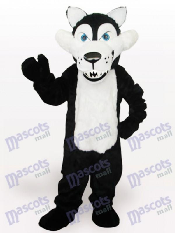 Weißes Belly Wolf Tier Maskottchen Kostüm für Erwachsene