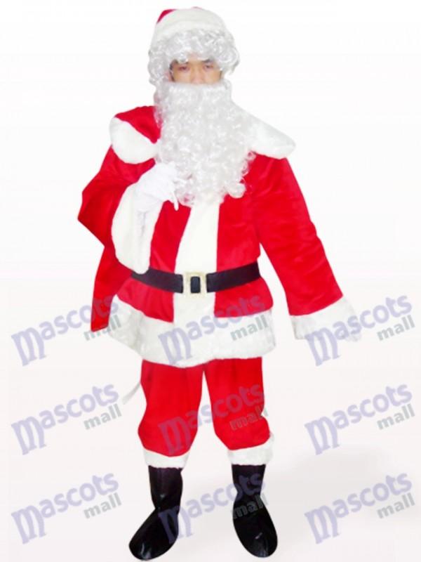 Weihnachten Xmas Red Santa offenes Gesicht Maskottchen Kostüm